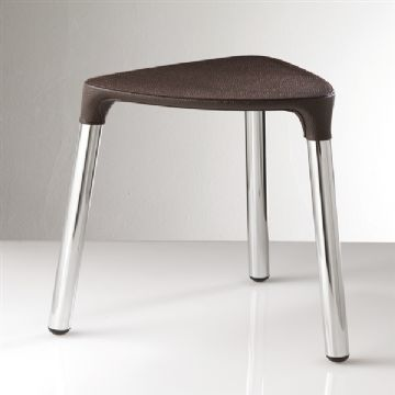Gedy Yannis Stool Wenge Faux/Chrome 2172-E9